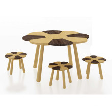 Bamboo Kids Playing Table Game Table and Stool