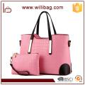 Alibaba China mujeres PU cuero monederos y conjunto de bolsos