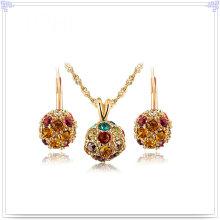 Bijoux en cristal Ensemble de bijoux à bijoux en alliage (AJS202)