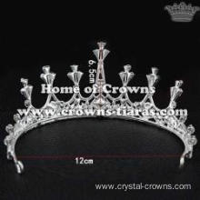 Crystal Wedding Tiaras With Tear Drop Diamond