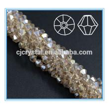 Los granos al por mayor del bicone cristales rebordean los rhinestones cortan y pulen
