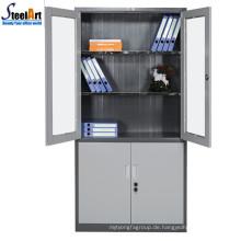Heißer Verkauf Top Qualität Büromöbel zwei Tür Eisen Aktenschrank Designs