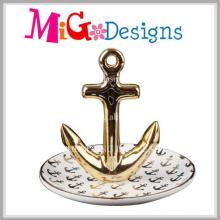 Suporte de anel de jóias de venda quente de cerâmica