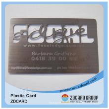 Metal Cartão Ouro Cartão Oco Cartão Plástico