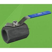 1 PC Hexagonal 2000 Psi Válvula de bola roscada de acero al carbono (Q11F)