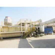 Dispositif de pyrolyse de réutilisation de pneu de rebut de 20T / D utilisé machine de réutilisation de textile de déchets avec le CE et l'OIN