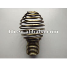 2012 hot sale antique brass ball iron curtain pipe end