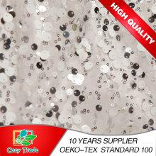 100% Polyester Mesh Stickerei mit verschiedenen Größen Farben von Sequins für Kleidungsstücke, Dekoration, Hochzeit