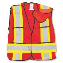 Red 100% Polyester Soft Mesh Safety Vest
