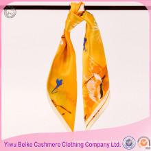 Lenço de seda feminino de alta qualidade para moda 2017 personalizado