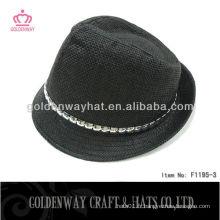 Chapeau noir pour homme Fedora