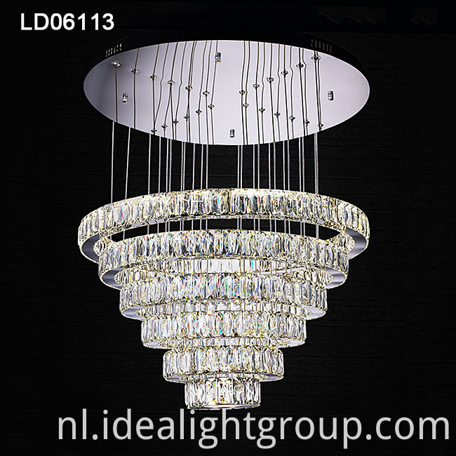 rings chandeliers crystal