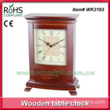 Decorative clock home use quartz wood tabletop clock cute desk clock