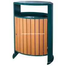 Cubo de basura al aire libre oval de WPC (DL104)