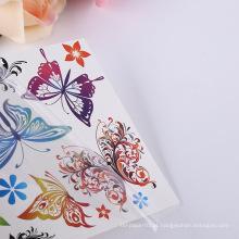 Atacado Body Art Tattoo Adesivo À Prova D 'Água Borboleta Temporária Floral Do Corpo Etiqueta Do Tatuagem