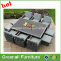 6 Persons Dining Cube Rattan Outdoor Furniture Set