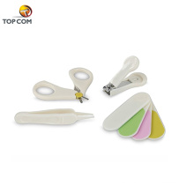 4 piezas de muestra gratis herramientas de uñas bebé clipper podadoras conjunto con cubierta de plástico