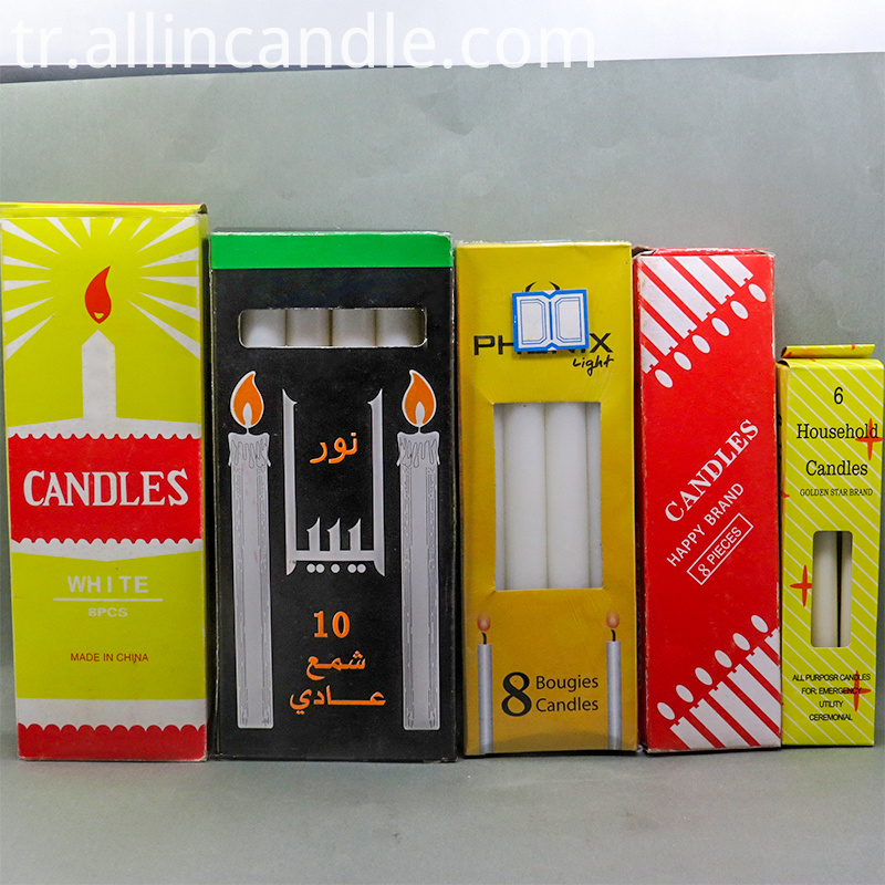 box packing candle