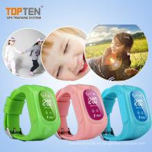 Niños GSM reloj GPS con la mejor calidad, botón SOS, 2 maneras de hablar (WT50-KW)