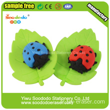 Red Lady Beetles Shaped Eraser, effaceur pour l'école