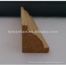 moulures en bois de teck pour la décoration d'angle