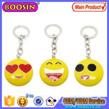 Kundenspezifisches Metall glückliches Emoji Keychain mit Schlüsselring-Förderungs-Geschenk