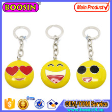 Custom Metal Happy Emoji Keychain with Keyring Promotion Gift