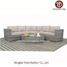 New Style Wicker Sofa Set in Grau (1403)