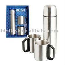 Stainless Steel Flask & Mug Giftset, any combination of Flask & Mug