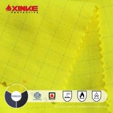 Tissu modacrylique ignifugé FR jaune avec anti-statique pour vêtements de sécurité