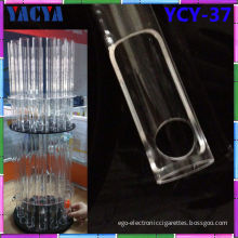 E Cig Bottles Electronic Cigarette Display With Acrylic Rotatable