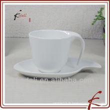 Bester verkaufender Großhandelsweißer keramischer Porzellan-Kaffeetasse-Schale