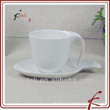 Taza de taza de café de porcelana de cerámica blanca al por mayor