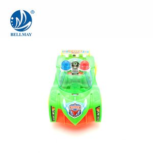 low price children gifts police pull string toy car with light