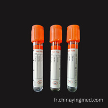 Tube anticoagulant pour sérum coagulant avec capuchon orange