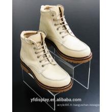 Support acrylique adapté aux besoins du client de chaussure pour l'affichage