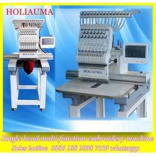 Holiauma 15 Color 1 cabeza máquina de bordado uniforme 3D Tubular / máquina automatizada del bordado del casquillo