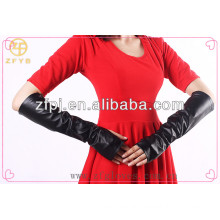 ZF 2311 Winter Fashion Long Leather Fingerless Glove