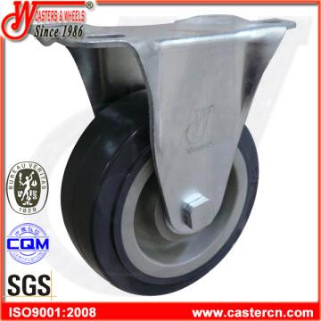PU Rueda giratoria / fija / rueda de freno para camiones de plataforma