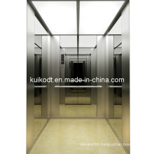 Passenger Lift with Mirror Hairline Stainless Steel (KJX-DJ03)