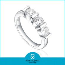 2014 Новый Элегантный Рожок Prong Окружение 925 Серебряное кольцо циркона (SH-R0169)