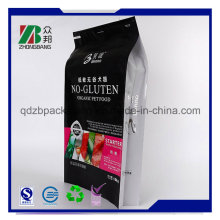 Aluminium-Folie Seitliche Zwickel-Quad-Siegel Pet Treat Packaging Bag