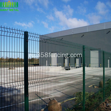 PVC+Coating+Triangle+Bending+Welded+Wire+Mesh+Fence