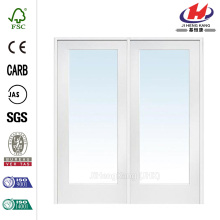 72 in. x 80 in. Classic Clear Glass 1-Lite Composite Double Prehung Interior French Door