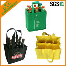 non woven bag with dividers for wine bottles