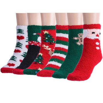 Ladies Soft Socks Weihnachten 6P