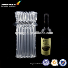 Air column packaging bag/inflatable protective package for wine bottle