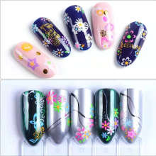 24Pcs/set 3D Flowers Heart Star Fruit Butterfly Fluorescent Nail Decals Self-Adhesive Glow in Dark Luminous Nail Art Stickers