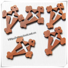 Hot Sale Unfinished Wooden Crosses Wholesale (IO-cw019)