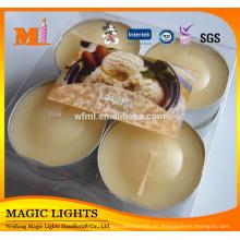 Velas de luz de té por encargo que empaquetan la caja de regalo del PVC